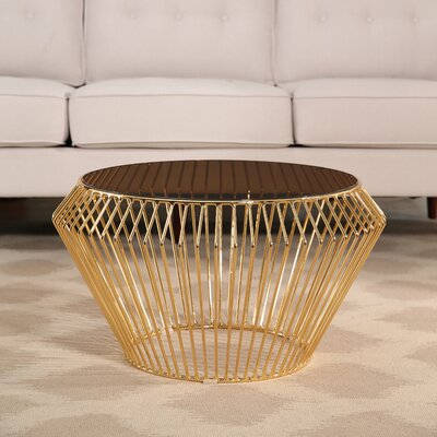 Brooklyn Rose Gold Stainless Steel Coffee Table