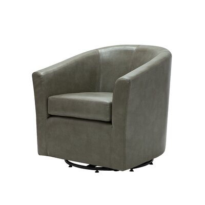 Maughan Swivel Barrel Chair Upholstery: Quarry