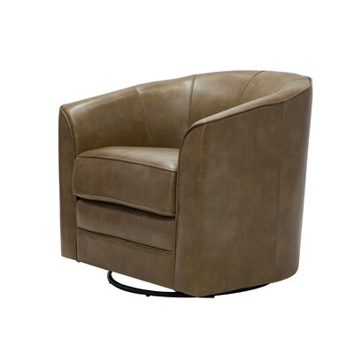 Mauldin Swivel Barrel Chair Upholstery: Molasses