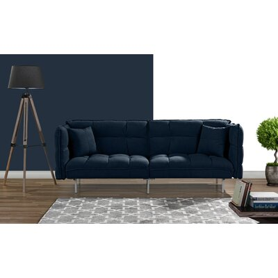 Germann Convertible Sofa Upholstery: Navy Blue