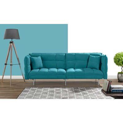 Germann Convertible Sofa Upholstery: Sky Blue