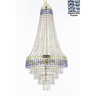 Stewart 4-Light Crystal Chandelier Finish: Sapphire Blue