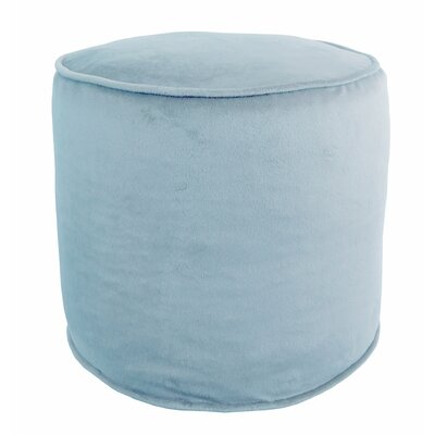 Boganville Plush Pouf Ottoman Color: Sky Blue