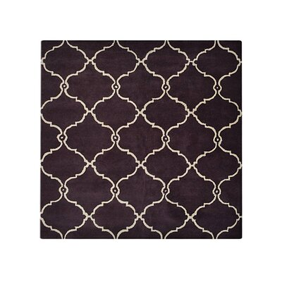 Malden Hand-Tufted Wool Brown Area Rug Rug Size: Round 6