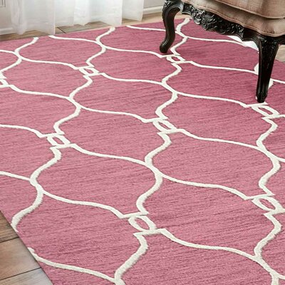 Kayo Hand-Tufted Wool Light Red Area Rug Rug Size: Rectangle 9' x 12'