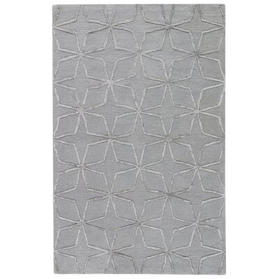 Bogwood Hand-Tufted Paloma/Dark Gull Gray Area Rug Rug Size: 8 x 11