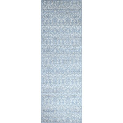 Bodell Light Blue Area Rug Rug Size: Runner 26 x 8