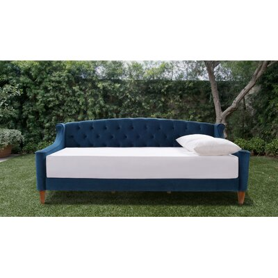 Maeve Upholstered Daybed Color: Satin Teal