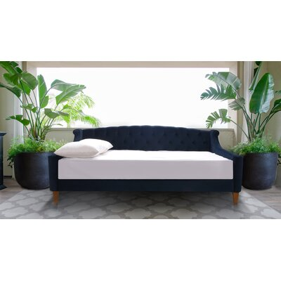 Maeve Upholstered Daybed Color: Dark Navy Blue