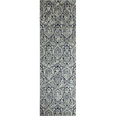 Bodell Dark Blue Area Rug Rug Size: Runner 26 x 8