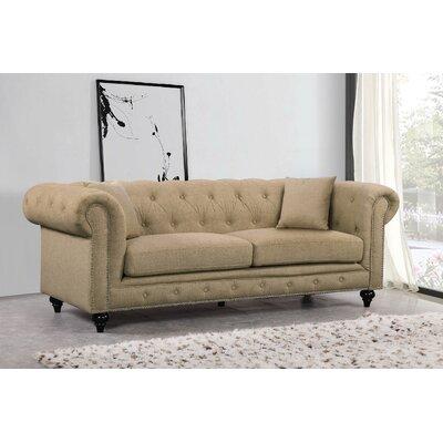 Garrett Chesterfield Sofa Upholstery: Sand
