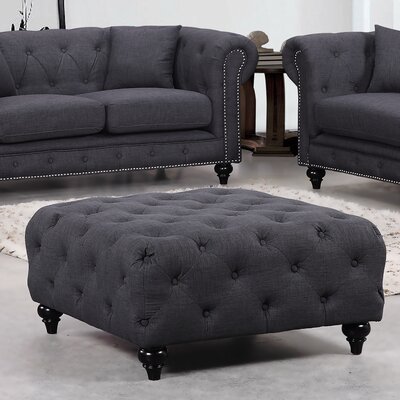 Garrett Cocktail Ottoman Upholstery Color: Grey