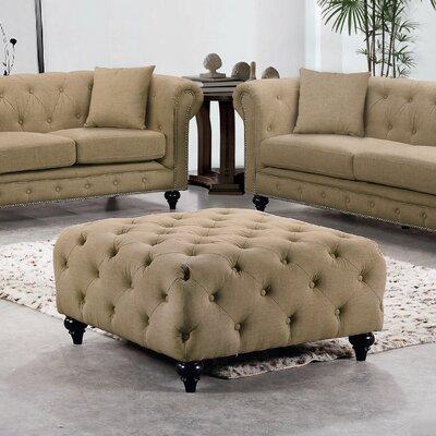 Garrett Linen Ottoman Upholstery Color: Sand