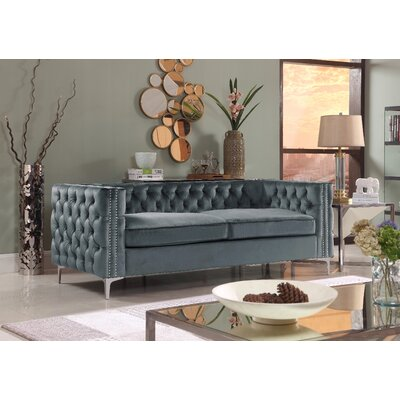 Marlon Chesterfield Sofa Upholstery: Gray