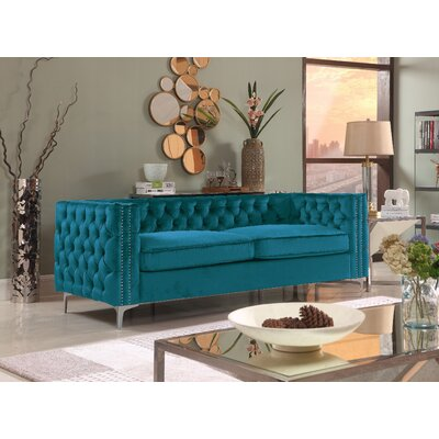 Marlon Chesterfield Sofa Upholstery: Teal
