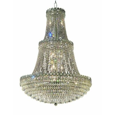 Lorna 17-Light Empire Chandelier Finish: Chrome, Crystal Trim: Royal Cut