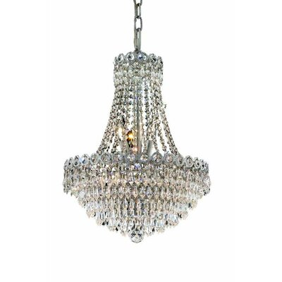 Lorna 8-Light Empire Chandelier Finish: Chrome, Crystal Trim: Elegant Cut
