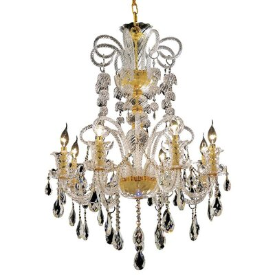 Baxley 8-Light Crystal Chandelier Finish: Gold, Crystal Trim: Strass Swarovski