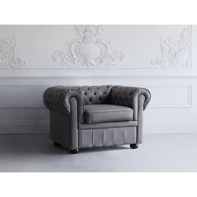 Bromford Chesterfield Chair Upholstery : Stone Gray