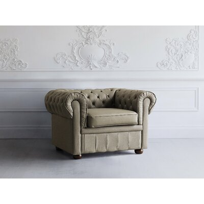 Bromford Chesterfield Chair Upholstery : Capuccino