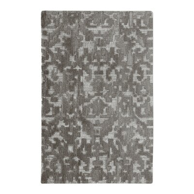 Vada Hand-Woven Wool Gray Area Rug Rug Size: 8 x 10