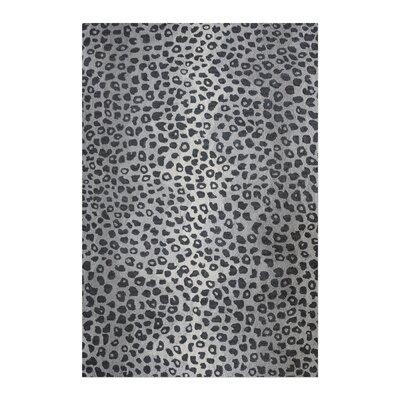 Kacie Hand-Tufted Wool Gray Area Rug Rug Size: 5 x 8