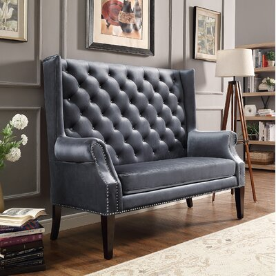 Colston Loveseat Upholstery: Gray