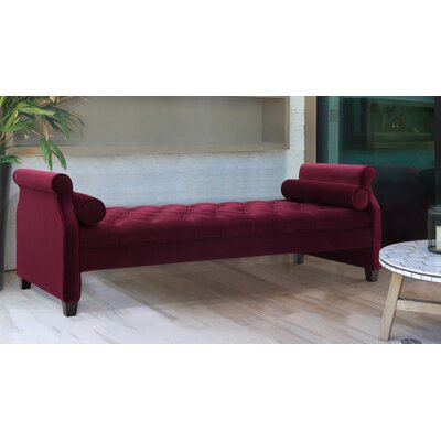 Deckard Upholstered Daybed Color: Burgundy
