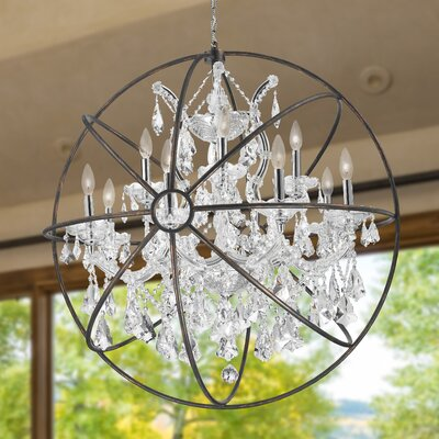 Selena 13-Light Globe Pendant Crystal: Clear Crystal
