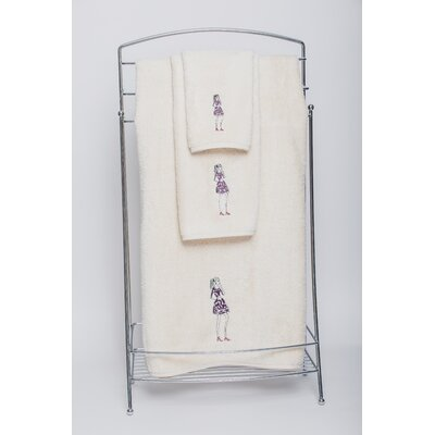 Dress Embellished Bath Towel Color: Ivory