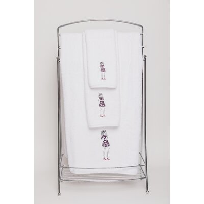 Dress Embellished Bath Towel Color: White