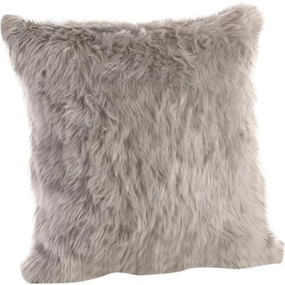Loraine Square Faux Fur Throw Pillow Color: Gray