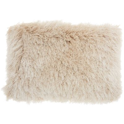 Boredale Shag Lumbar Pillow Color: Beige