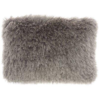 Boredale Shag Lumbar Pillow Color: Charcoal