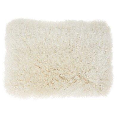 Boredale Shag Lumbar Pillow Color: Cream