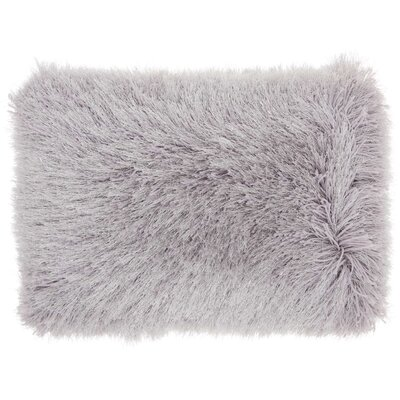 Boredale Shag Lumbar Pillow Color: Light Grey