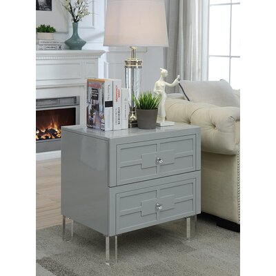 Boswell End Table Color: Gray