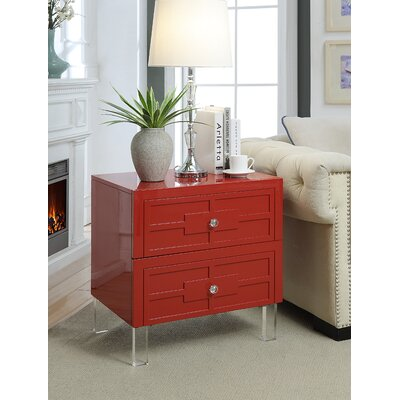Boswell End Table Color: Red
