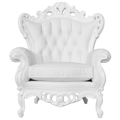 Goodman King Armchair Upholstery: Pure White
