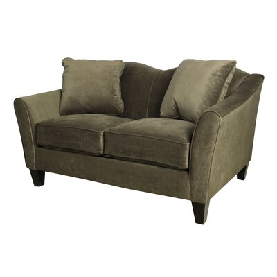 Pickett Loveseat Upholstery: Chocolate