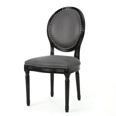 Chambray Upholstered Dining Chair Upholstery Color: Charcoal Slate