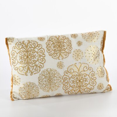 Edson Ivory Cotton Breakfast Pillow Color: Gold
