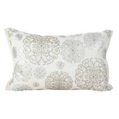 Edson Silver Cotton Breakfast Pillow Color: Silver