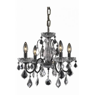 Thao 4-Light Crystal Chandelier Finish: Dark Bronze, Crystal Trim: Strass Swarovski