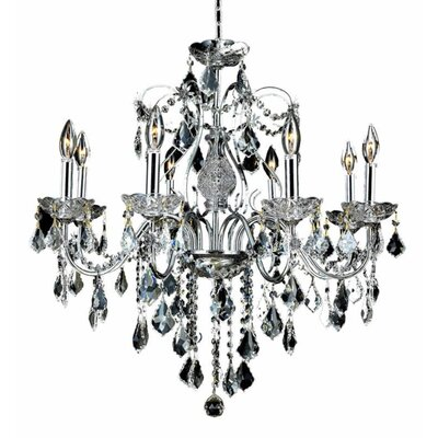 Thao 8-Light Chain Crystal Chandelier Finish: Chrome, Crystal Trim: Strass Swarovski
