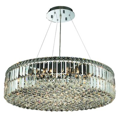 Bratton 18-Light 32 Semi Flush Mount Crystal Grade: Elegant Cut