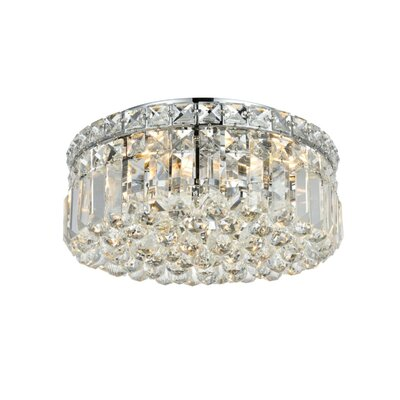 Bratton 240W 4-Light Flush Mount Size / Crystal Grade: 12 / Royal Cut
