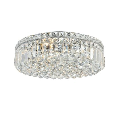 Bratton 6-Light 20 Flush Mount Crystal Grade: Strass Swarovski