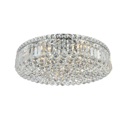 Bratton 9-Light 24 Flush Mount Crystal Grade: Strass Swarovski