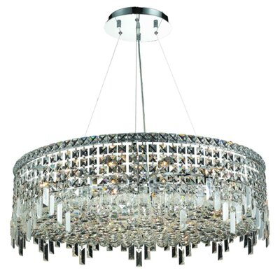 Elvira 6-Light Crystal Chandelier Finish / Crystal Color / Crystal Trim: Gold / Crystal (Clear) / Royal Cut